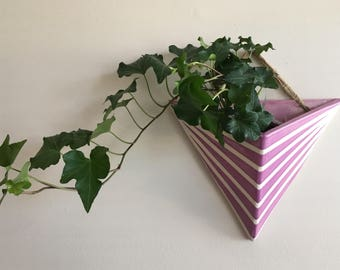 Triangular Wall Pocket Planter - Handmade Ceramic