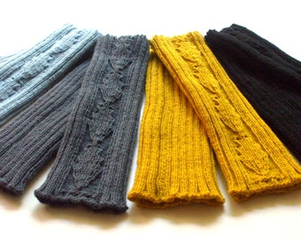 Knitted Baby/Children's Leg Warmers/wool leg warmers/boot socks/lace/rib knit/with pattern