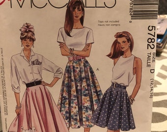 McCall's pattern 5782 - misses' skirt and poodle skirt - size D (12, 14, 16) - uncut