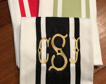 Monogrammed / embroidered dish towel, tea towel, hostess gift, housewarming gift, kitchen towel