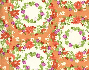 SALE Clover crown in peach from the Strawberry Moon fabric collection by Sandi Henderson of Portabellopixie for Michael Miller Fabrics