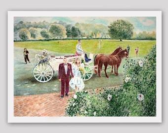 Wedding.Purpose-built Painting for Wedding