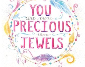 Precious Jewel | Watercolor | Lettering
