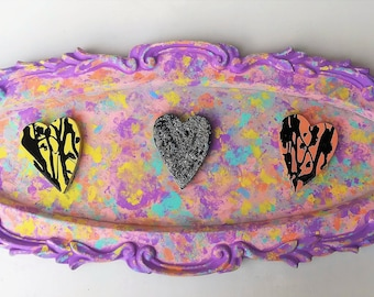 Pastel Goth Wall Art, Wall Decor, Pastel Decor,Paint Drip, Pastel Decor, Heart Decor, Vintage Frame. Ornate Wall Decor, Gift for Her