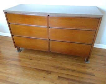 Mid Century Distinctive Furniture by Stanley Six Drawer Dresser / Credenza