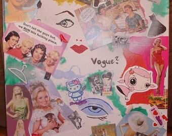 DIVINE - original collage art on canvas