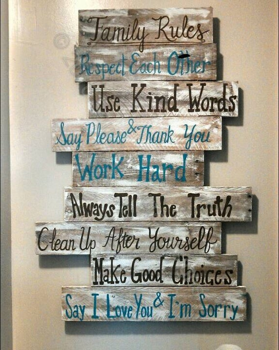 Popular House rules sign family rules sign wood signs wood signs VN59