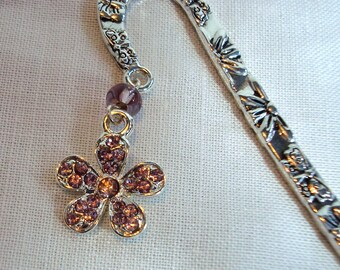 Diamante Daisy Bookmark