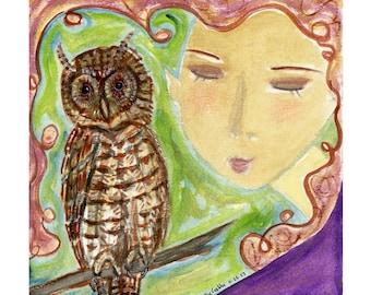 Owl Heart Signed Print + Poem