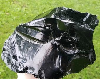 Black Obsidian Stone, Raw Black Obsidian, rough Black Obsidian, large Black Obsidian, natural Black Obsidian