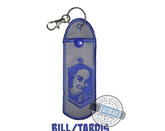 CLEARANCE! Bill Balm Buddy - Adorable Doctor Who inspired Geek Stix Cozy - Embroidered Character Lip Balm Holder with Clasp