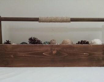 Rustic Wood Tool Box, Old Tool Box, Wedding Centerpiece, Rustic Flower Holder, Centerpiece, Rustic Wedding, Rustic Centerpiece, Home Decor