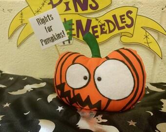 Pumpkin Art Doll, Horror Doll, Halloween Plushie, Scary Doll, Gothic Gift, Stocking Filler, Decorative Plushie, Horror Plushie, Gothic Doll