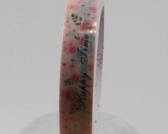 Deco Tape Kawaii Pink Roses 15m