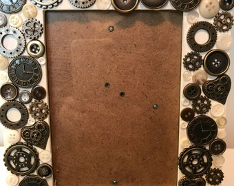 Steampunk themed picture frame