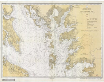 Chesapeake Bay Map 1934
