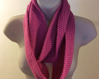 Pink double infinity scarf