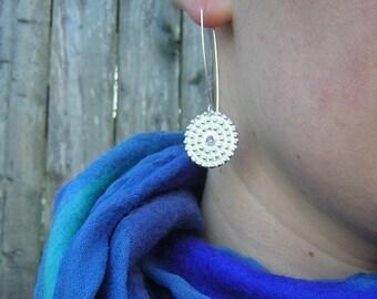 Iolite Gemstone Dangle Earrings in Argentium Sterling Earrings