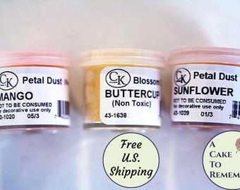 Petal dust yellows group for cake decorating and gumpaste Ships free to U.S. Cake decorating tools powdered color for gumpaste flowers