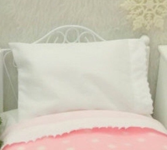 Doll Pillowcase and Pillow- 18 inch Girl Doll size bedding