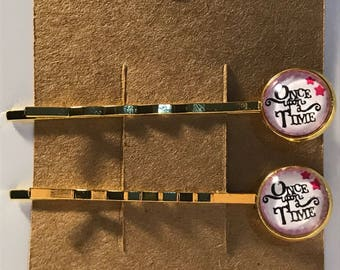 Once upon a time on gold Bobby Pin Set
