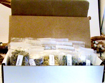 Choose 20-bags of wiccan/pagan herbs -Mix n Match! Wiccan herbs, herbs for spells, altar tools, witchcraft kits, spell kits, wiccan spells,