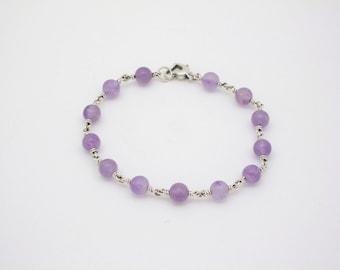 Amethyst Sterling Gemstone Bracelet