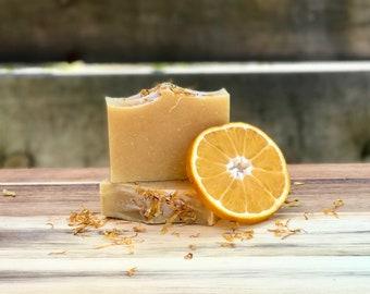 Orange Delight Soap, Orange Essential Oil Soap, Handmade Soap, Cold Process Soap, Natural Soap, Orange Soap