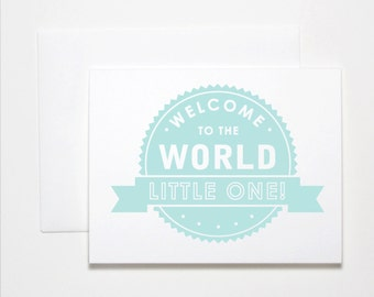 New Baby Card- Little One, Pink or Blue