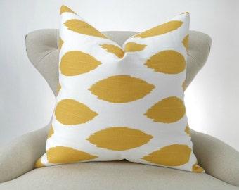 Yellow Euro Sham, fits up to 28x28 inch pillow, big sizes, decorative throw, floor pillow, Chipper corn yellow slub by Premier Prints