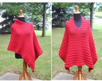Easy Crochet Poncho Pattern, Crochet Poncho Pattern, Boho Poncho Pattern, Poncho Pattern, Instant Download