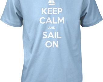 Keep Calm and Sail On, Love To Sail Men's T-shirt, NOFO_00672