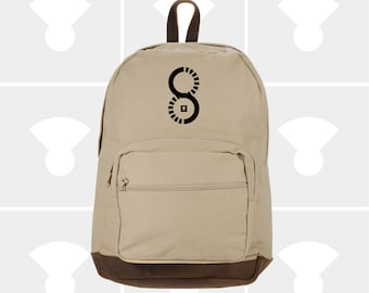 Earn Your Turns - Leather Bottom Laptop Backpack