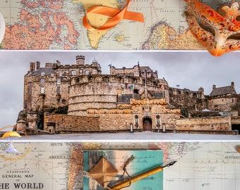 Panorama Art Photography | Around the World | Panorama | Home Decor Castle | Castle Print | Edinburgh Wall Art Print | Panoramic Photo Print