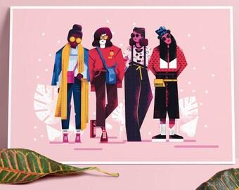 GIRLS  x Poster A4
