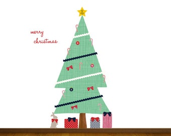 Christmas Tree Wall Decal - Holiday Wall Decals