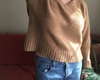 Wool Blend Cropped Sweater