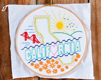 California Embroidery Kit