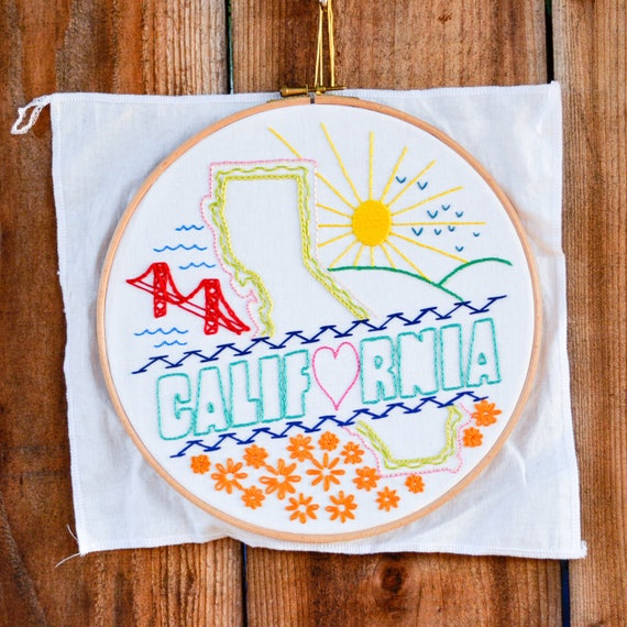 California Embroidery Kit