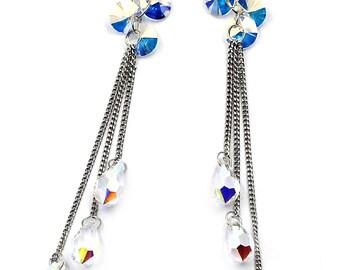 Water droplets fringed fashion earrings
