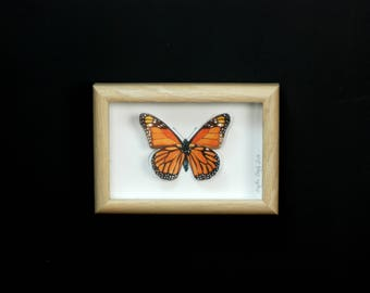 Butterfly painted by the aquarelleet cut