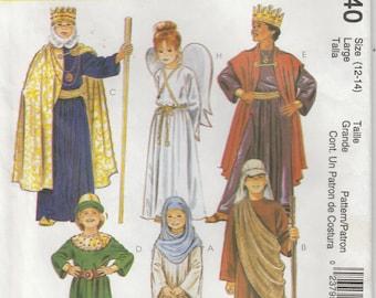 Bible Characters Costume Pattern King Angel Shepard more Boys Girls Size 12 - 14  Uncut McCalls 2340