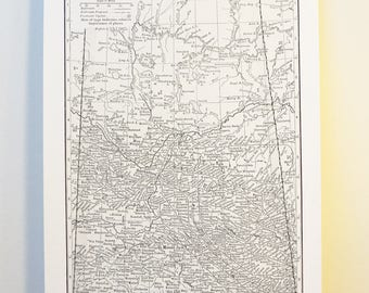 Saskatchewan Antique Map Print on Eco Bamboo paper Canadian Made in Canada Prairies Prairie Central Province Wheat Souvenir Saskatoon