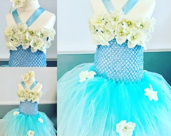Perri Blue Flower Girl Dress