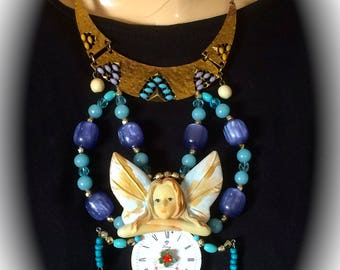 Necklace creator bib vintage baroque steampunk fairy time