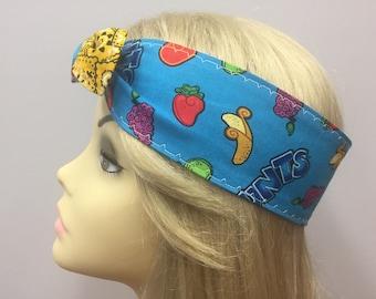 Rockabilly inspired Runts Fruit Candy Pin Up by Gracie Headband Pin up head band, retro headband, vintage fashsion, 50s headband