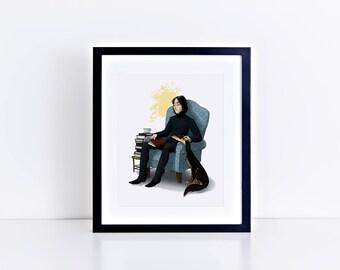 Harry Potter - Saluki 8x10 print