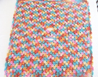 Car seat blanket, Crochet Baby Car Seat Afghan, Multi colored small Blanket