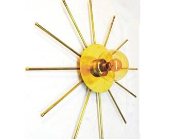 Sputnik Wall Lamp - Mid century Sconce Light - Lighting Ponz Home Design - Brass Sconce Wall Lamp - Home Decor