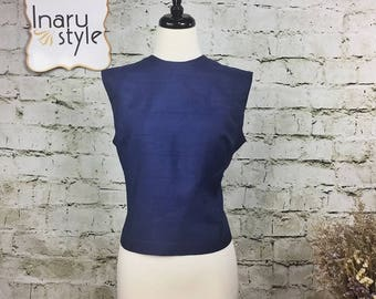 Vintage Judy Bond Sleeveless Blue Top